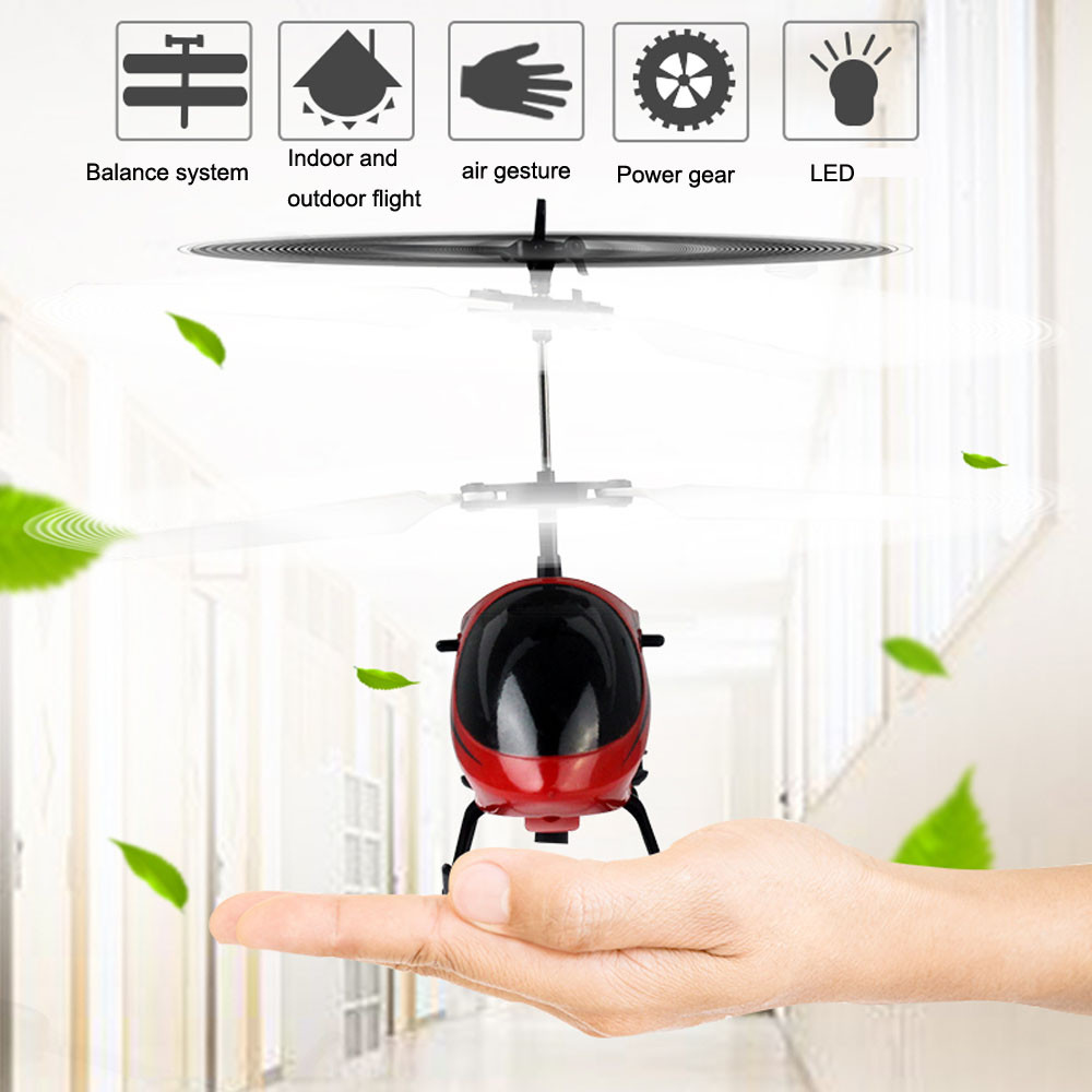 Hiinst Flying Mini RC Infraed Induction Helicopter Aircraft Flashing Light Toys For Kids Sep7