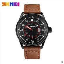 Men branded quartz watch leather strap watch