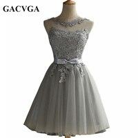 GACVGA 2017 Elegant Lace Diamond Summer Dress Sleeveless Lovely Short Dress For Women Plus Size Sexy