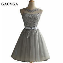 GACVGA 2018 Elegant Lace Diamond Summer Dress Sleeveless Lovely Short Dress For Women Sexy Slim christmas Party Dresses Vestidos