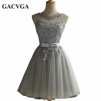 GACVGA 2019 Elegant Lace Diamond Summer Dress Sleeveless Lovely Short Dress For Women Sexy Slim christmas Party Dresses Vestidos