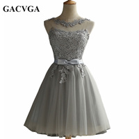 GACVGA 2017 Elegant Lace Diamond Summer Dress Sleeveless Lovely Short Dress For Women Plus Size Sexy