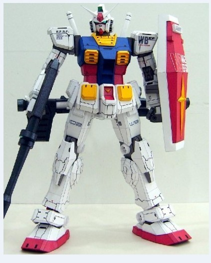 Gundam RX - 78 Is As High As Pearl KNSER Paper Model