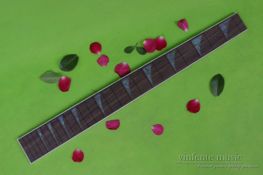 Guitar Accessories 1 pcs x 25.5electric Guitar Fretboard electric guitar rose Wood Fretboard Parts 00-035# inlay guitar or bass tree of life fretboard silver color inlay ultra thin sticker
