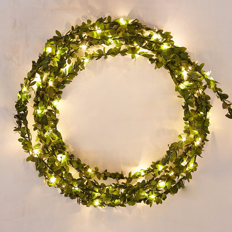 2/3/5/10M  Leaf Garland Battery Operate Copper LED Fairy String Lights For Christmas Wedding Decoration Party Event