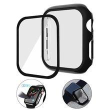 Простой глянцевый/матовый защитный чехол для экрана с 3D полным покрытием из закаленного стекла для Apple Watch 4 3 Смарт-часы аксессуары