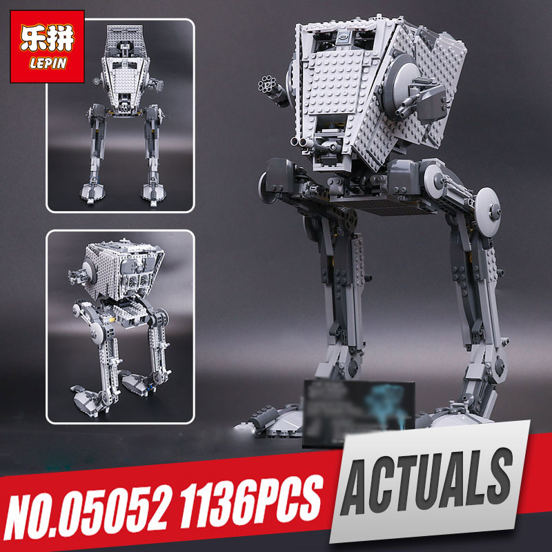 LEPIN 05052 Star series Wars The Force set Awakens Kits AT toy ST Walker Model Building Blocks Bricks Compatible legoing 10174 rotatable stainless steel top rainfall pressure shower head set with hose and steering holder