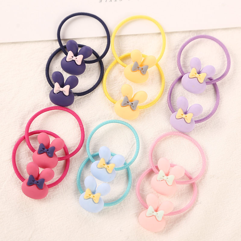 12Pcs/Lot 3cm Child Hair Rubber Bands Hair Accessories Fashion Cute Elastics Hair Rope For Girls Kids Headwear