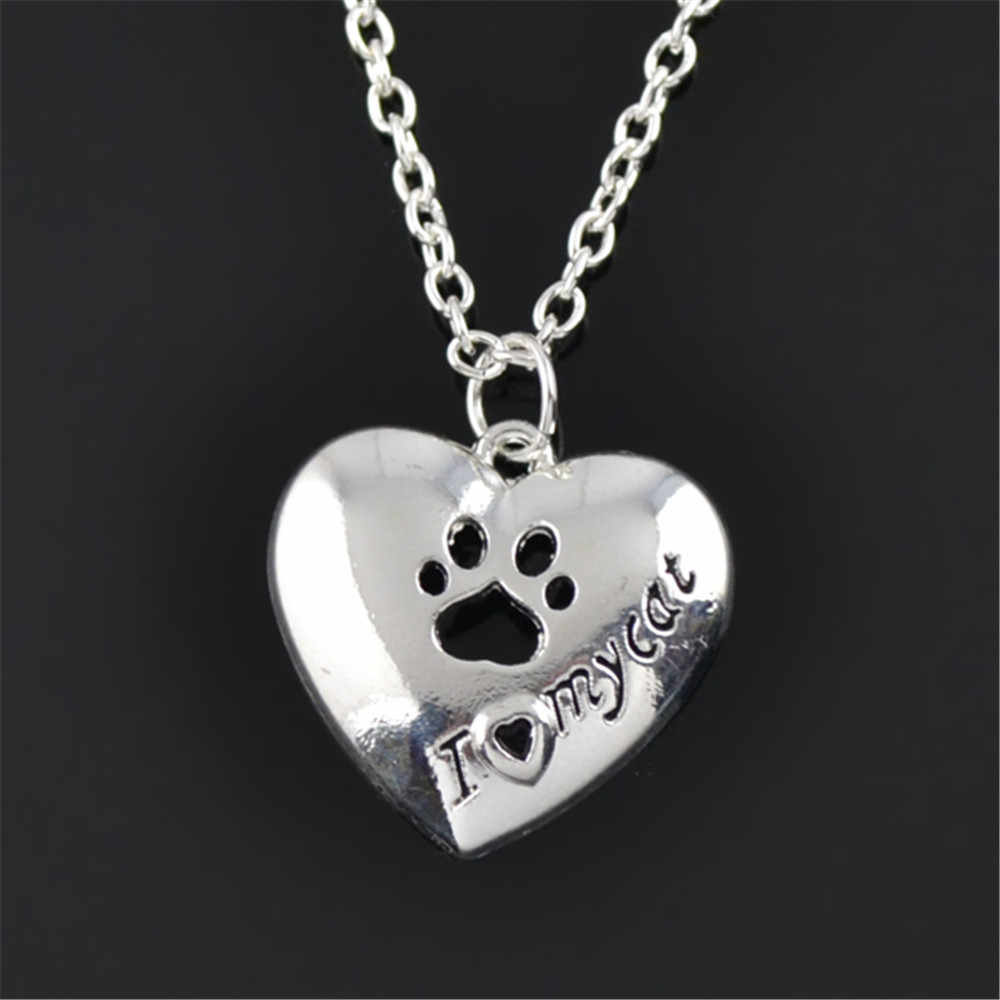 my shape Cute Delicate Necklaces Tassut Necklace Cat and Dog Animal Paw Print Animal Jewelry Women Pendant Choker Necklace
