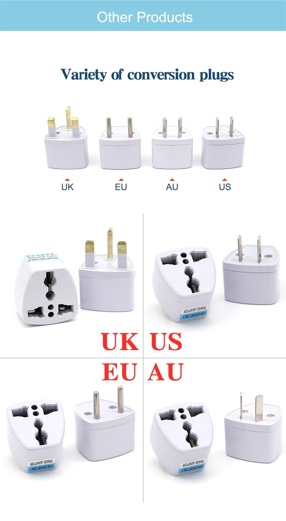Universal Worldwide Adapter Electric Socket AU UK US EU Plug Adaptor Travel Wall Charger AC Power Option 2 USB Charging Port (6)