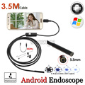 5.5mm Lens Digital OTG USB Endoscope Camera Android Phone Flexible IP67 Waterproof Snake Tube Inspection Borescope Camera 3.5M