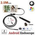 5.5mm de la Lente Digital Endoscopio USB de la Cámara OTG Teléfono Android IP67 Impermeable Flexible Tubo de La Serpiente Cámara de Inspección Boroscopio 3.5 M