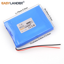 7.4V 3000mAh 965475 Li-polymer  battery for tablet pc  cell DVD phone POWER BANK Android Phone  965576 965573 satellite finder