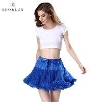 EKO LUX Fashion 3 Layers Women Tulle Skirts Fluffy Mini Skirts Tutu Skirt Vintage Rockabilly Lolita