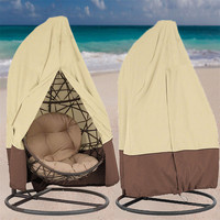 Single Swing Chair Waterproof Cover Rattan Swing Patio Garden Weave Hanging Egg Chair Seat Cover Anti UV