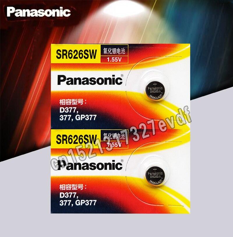 2pcs/lot Panasonic Original SR626SW Button Cell Watch Coin Battery G4 377A 377 LR626 SR626SW SR66 LR66 Silver Oxide Batteries