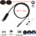 Usb Эндоскоп Android Камеры 1 М Кабель 5.5 мм 6 Светодиодов IP67 Водонепроницаемый Микро OTG UVC 2in1 Мини Видеонаблюдения Змея инспекции Камеры