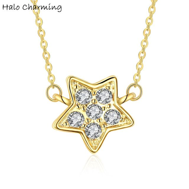 1 piece gold color crystal star shaped charms pendant necklace women 1 piece gold color crystal star shaped charms pendant necklace women decoration fashion jewelry party 45 mozeypictures Choice Image