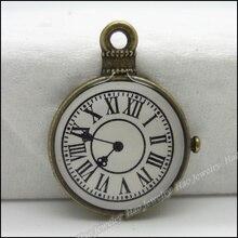 30 шт старинные подвески Часы Кулон Античная бронза для браслетов и колье DIY изготовление металлических украшений