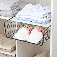Multifunctional Home Storage Basket Kitchen Storage Rack Under Cabinet Storage Shelf Basket iron Wire Rack Organizer Storage
