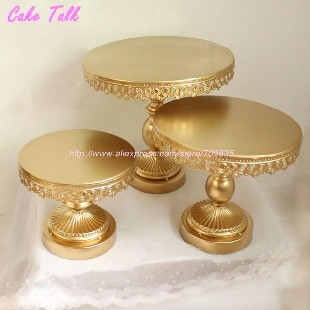 Metal iron gold cake stand 81012 wedding cake decorating