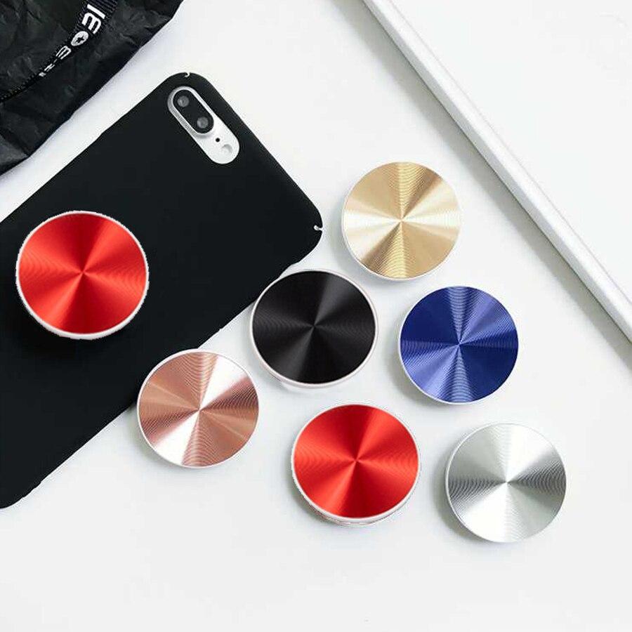 Pop Socket Metal Phone Holder Car Mount PopSocket Magnetic Mobile Phone Adsorption Stand Expanding Finger Ring Bracket