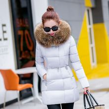 2016 Latest Winter Fashion Women Down jacket Hooded Thicken Super warm Medium long Coat Long sleeve