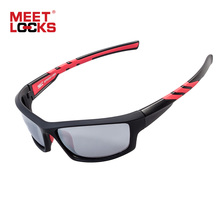 MEETLOCKS Sports Polarized Sunglasses, PC Frame,UV400 Protection Sports Glasses for Cycling, Fishing, Riding, Driving