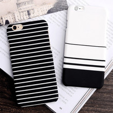 Simple striped frosted Phone Case for Apple iPhone 6s case for iPhone 7 7plus 6 6plus 6s slim phone shell for iPhone Hard Case