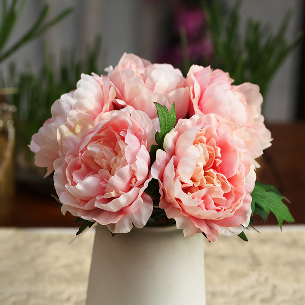 Cheap artificial peony bouquet silk rose bridal bouquet floral cheap artificial peony bouquet silk rose bridal bouquet floral wedding decoration mariage flower for home decoration accessories in artificial dried izmirmasajfo Gallery
