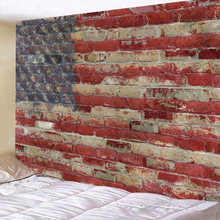 Retro USA Flag Tapestry Tapzi Wall Hanging and Wall Art For Home Deco Wall Decor Large Plus Size Free Shipping(China)
