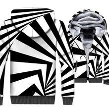 New Arrival 2018 Men's Hoodies Black White Zebra Color Vortex 3D Print Hoodie Streetwear Unisex Striped Long Sleeve Thick Jacket поло print bar vortex
