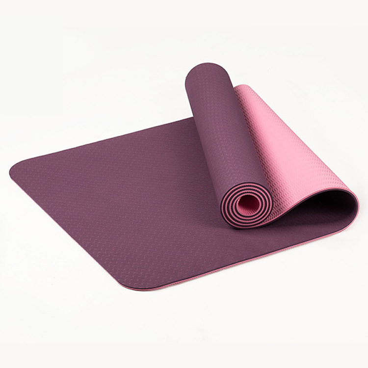 Non Polluting Material TPE Yoga Mat 6mm Non Slip Exercise