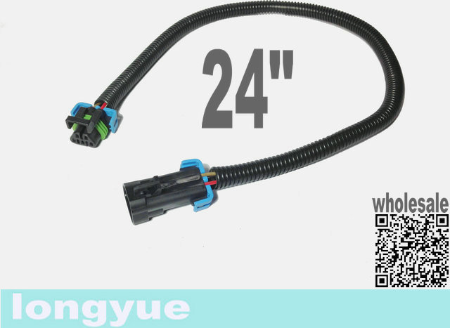 longyue 10pcs ls2 ls3 ls7 c6 corvette 2010 chevy camaro oxygen o2 sensor  header extension wiring harnesses 24