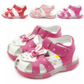 Baby Girls shoes Kids Summer toddler Shoes baby first walker shoes Child Flower Toe Cap Covering rabbit Princess Shoes