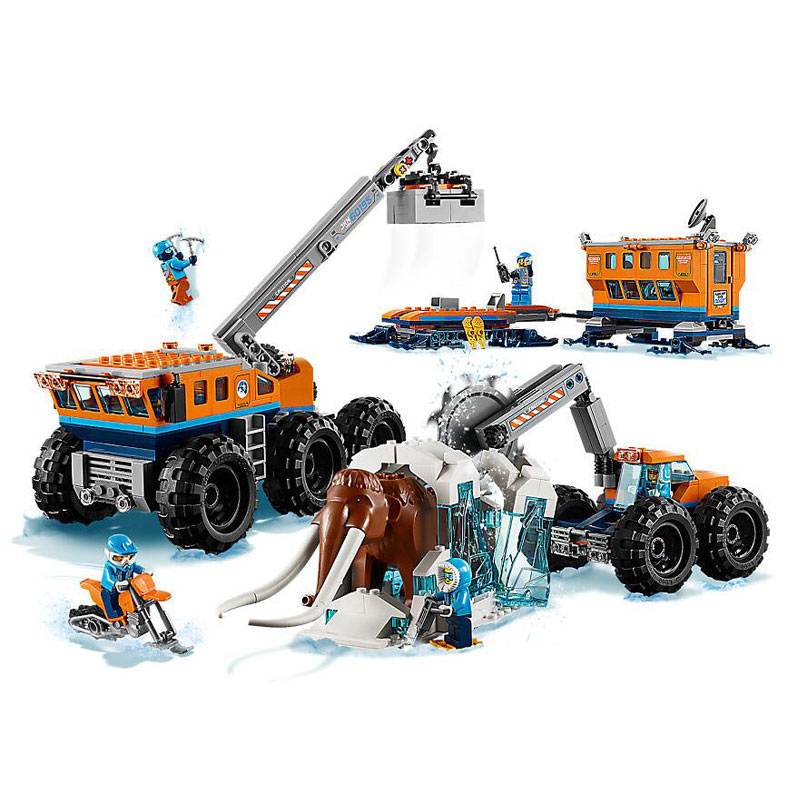 Bela 10997 City Arctic Mobile Exploration Base Model Building Block Bricks Toys Compatible With Legoings City 60195 цена