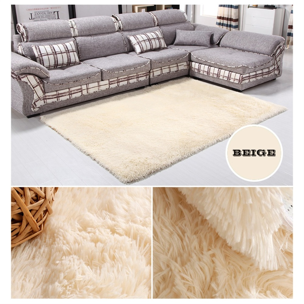 14 Colors House Living Room Bedroom Polyester Fiber Floor Rug Carpet ...