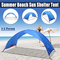 Sun Shelter Tent for Beach Summer Outdoor UV Tarp Sun Shade Strand tent Cabana Camping Fishing Awning Sunshade Beach Tent Canopy