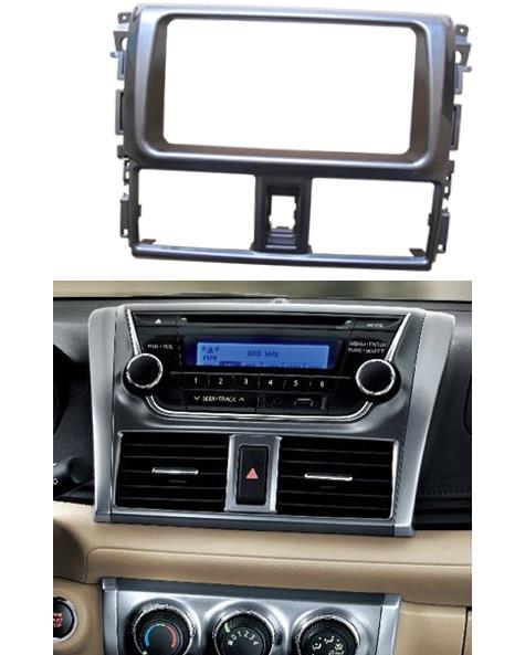 Double Din Stereo Panel For Toyota Yaris L 2013 2014 Fascia Radio DVD Dash Mounting Installation Trim Kit Face Frame Bezel radio fascia for honda civic 2006 2011 2 din dvd stereo cd panel dash mounting installation trim kit face frame bezel