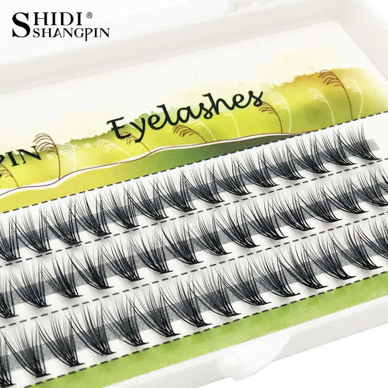 48a2e1a3632 60 pieces false eyelashes natural long mink Individual Lashes hand made eyelashes  extension 8/10