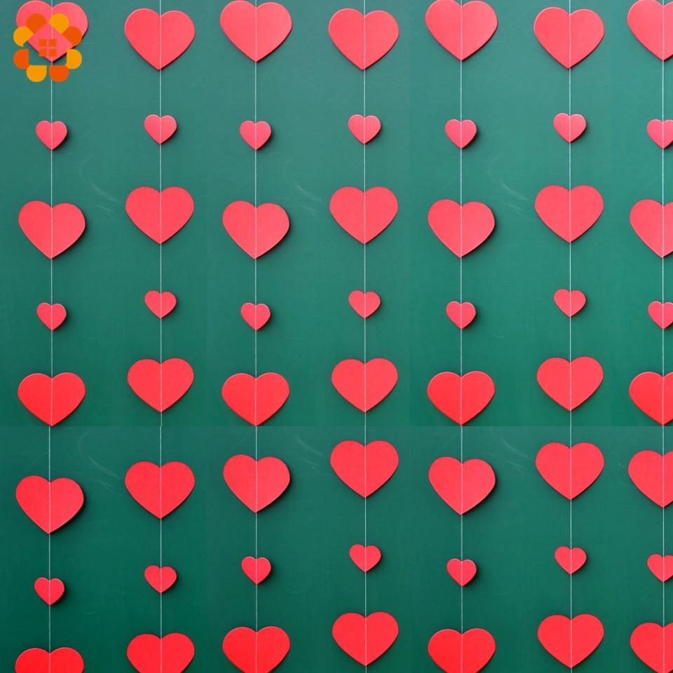 Romantic Wedding 3D Love Heart Felt Banner Home Party Hanging Decorations