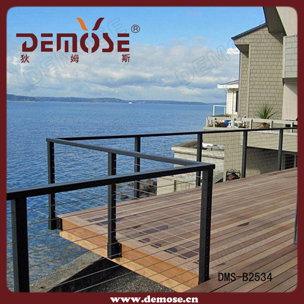Brand new staircase stainless steel wire railing with certificate on ...