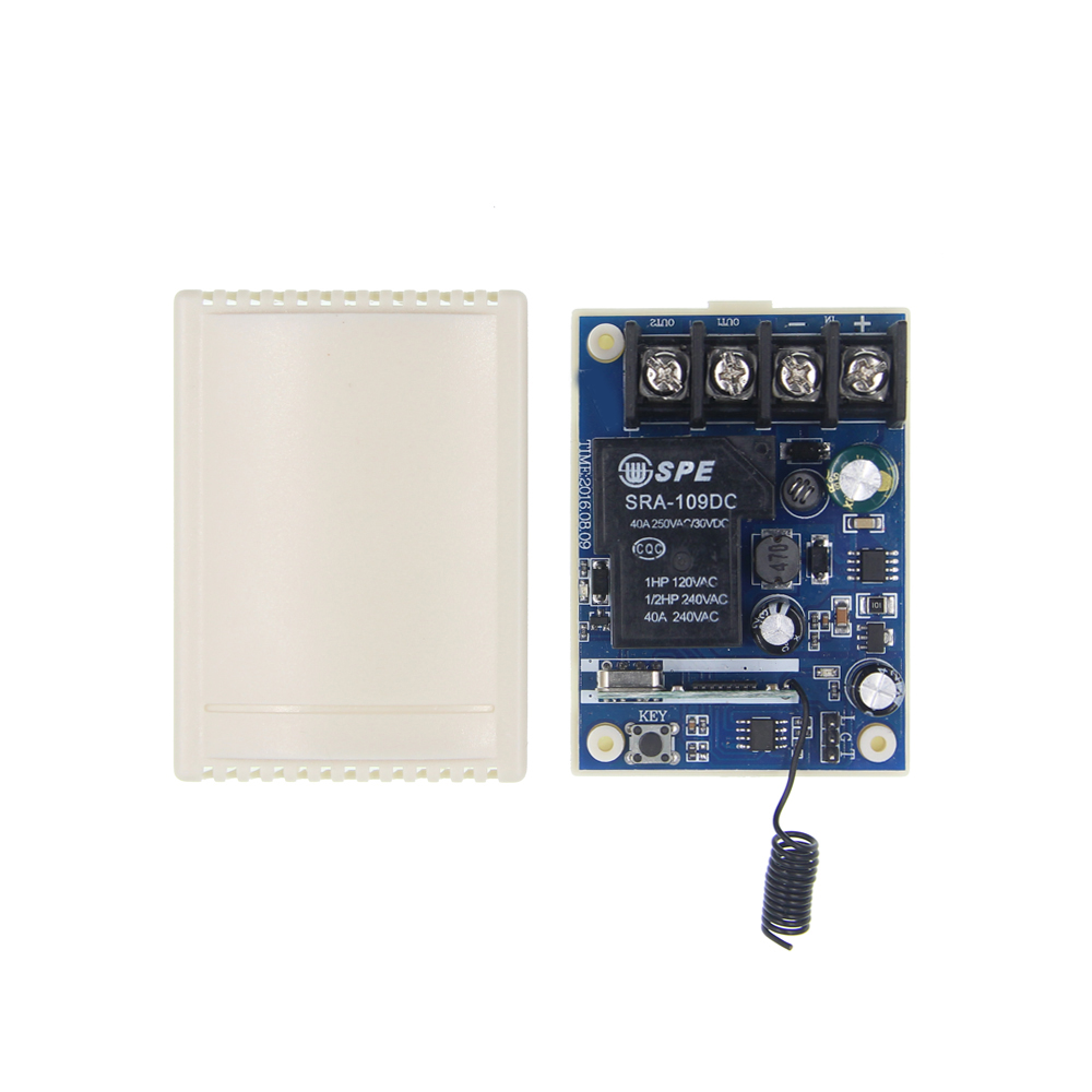 DC 12V-48V 24V 36V 30A 1 CH Channel 1CH RF Wireless Remote Control Switch System Receiver Only, 315 / 433.92 MHZ only a promise