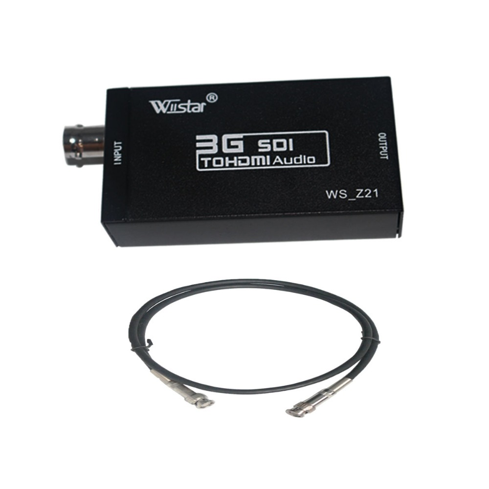 Wiistar HD 1080P 3G sdi to hdmi Converter&bnc cable   Support  HD-SDI / 3G-SDI Signals   sdi2hdmi sdi to hdmi free shipping simcom 5360 module 3g modem bulk sms sending and receiving simcom 3g module support imei change