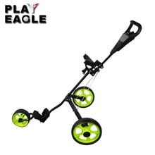 Электронной ручной тележки гольфа легкий 3 колеса складной гольф-клуба пуш-ап тележка для игры в гольф тележка