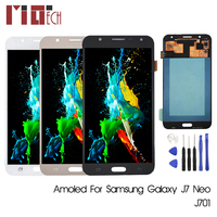 SUPER AMOLED For SAMSUNG Galaxy J7 Neo J701 J701F J701M LCD Display Touch Screen Digitizer Assembly Adjustable 5.5