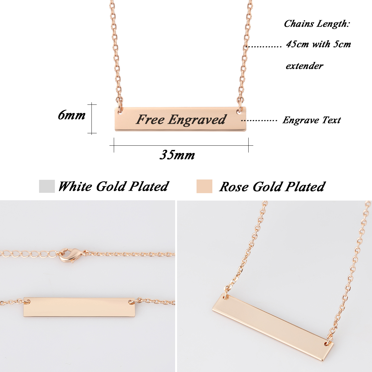 pin engraved message chains thejewelleryboutique com necklace