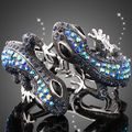 High Quality Austrian Crystal Rhodium Plated Promotion Animal Design Fashion Snake Bangle