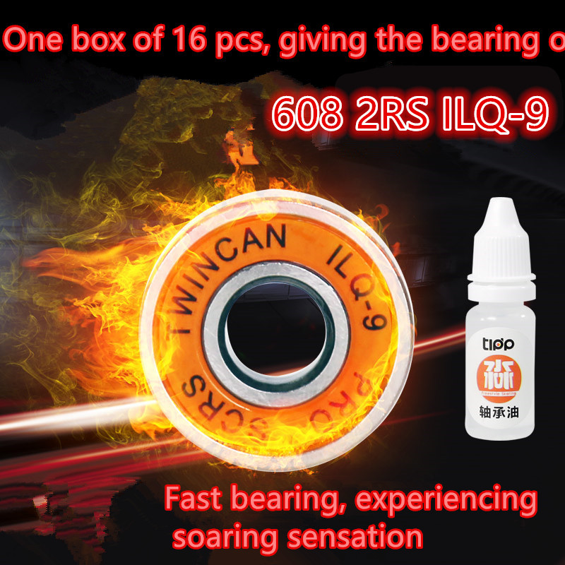 Thrust Bearing Hot Free Shipping 608 2rs 608rs Ilq-9 Ilq11 Miniature Ball Radial Bearings Good Quality Skating Abec-9 8*22*7mm free shipping skateboard bearing 16pcs lot 608rs 608 2rs 608 ilq 9 pro bearings cover rubber seals