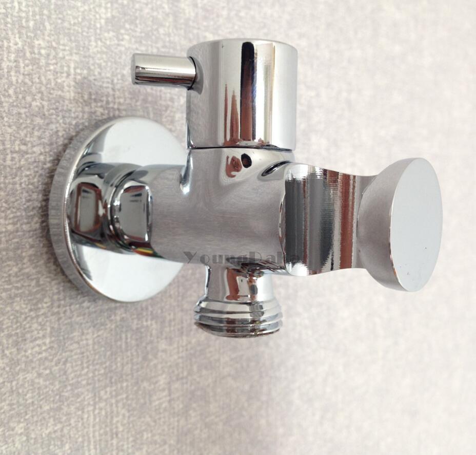 Modern Chrome Finish Toilet Bidet Faucet Bathroom Stainless steel ...
